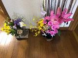 斎場で頂いたお花.jpg